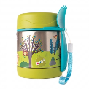 Cool-Thermal Food Jar - WITH 2 IN 1 SPOON & FORK 300ML/10o.z.