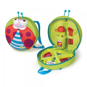 Starry Meal-Set - WINKLING LIGHTS BACKPACK WITH WEANING SET