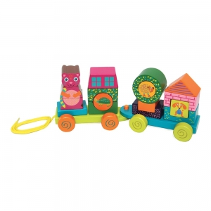 Fun Forest & City Train - WOODEN ACTIVITY TRAIN - OOPS GLOBAL